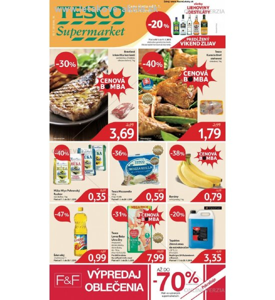 leták Supermarkety Tesco strana 1